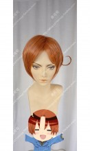 APH Axis Power Hetalia Feliciano Vargas Italy Burnt Sienna Center Parting Short Cosplay Party Wig
