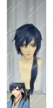 DMM R18 Game Gyakuten Ooku Asaoka fujimar Iron Blue Mix Baby Blue Short Cosplay Party Wig