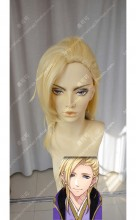 DMM R18 Game Gyakuten Ooku Senga Amane Cream Yellow Short Cosplay Party Wig