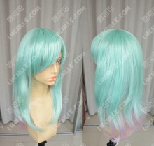 Ayamo Fashion Aqua Green Gradient  Iris 50cm Wavy Party Cosplay Wig