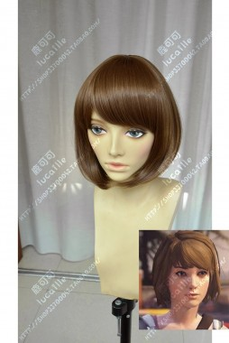 Life is Strange Maxine Caulfield Ice Coffee Brown Short Cosplay Party Wig