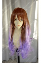 Discount!Ayamo Fashion Brown Gradient Wistaria 90cm Curly Cosplay Party Wig