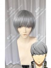Persona4 the ANIMATION Yu Narukami Smoke Gray Short Cosplay Party Wig