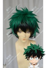 My Hero Academia Izuku Midoriya Green Top Black Down Style Short Cosplay Party Wig