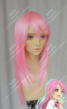 And you thought there is never a girl online? Nanako Akiyama Water Pink 60cm Straight Cosplay Party Wig