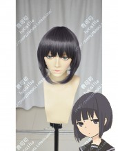 Tanaka-kun is Always Listless Rino SlateGray Mix Purple Short Cosplay Party Wig