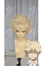 My Hero Academia Katsuki Bakugō Cream Yellow FullBack Style Short Cosplay Party Wig