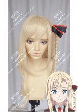 High School Fleet Wilhelmina Braunschweig Ingenohl Friedeburg 70cm LightYellow One Side Ponytail StyleCosplay Party Wig