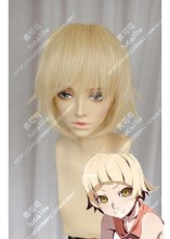 Monogatari (series) Shinobu Oshino Lime Yellow Short Cosplay Party Wig