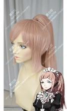 Fire Emblem if Felicia Orange Mix Gray Ponytail Cosplay Party Wig