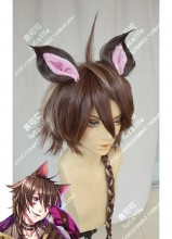 100 sleeping princes & the kingdom of dreams Yume 100 Cheshire Brown Mix Golden Ponytail Style Cosplay Party Wig