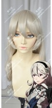 Fire Emblem if Corrin Female Champagne 80cm Curly Cosplay Party Wig