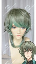 TSUKIUTA. THE ANIMATION MINADUKI RUI Slate Green Gradient  Water Green Short Cosplay Party Wig