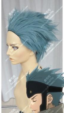 Kabaneri of the Iron Fortress Uryuu PowDerBlue Mix Gray Full Back Style Short Cosplay Party Wig