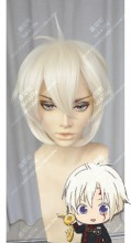 D.Gray-man Hallow Allen Walker Cream Yellow Mix White Short Cosplay Party Wig
