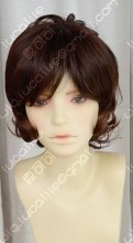 3 Color Girl Style Short Brown Daily Curly Cosplay Party Wig