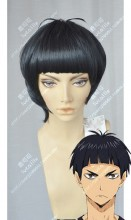 Haikyū!! Tsutomu Goshiki Short Black Cosplay Party Wig