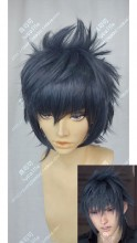 Final Fantasy XV Noctis Lucis Caelum Gray Mix Blue Short Cosplay Party Wig