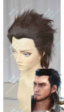 Final Fantasy XV Gladiolus Amicitia Brown Full Back Style Cosplay Party Wig