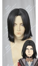 Bloodivores Chen Fong Center Parting Black Short Cosplay Party Wig
