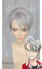 Yuri!!! on Ice Victor Nikiforov Silver Mix Gray Short Cosplay Party Wig
