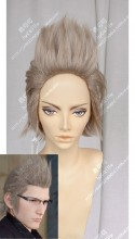 Final Fantasy XV Ignis Scientia Ash Rose Mix Gray Full Back Style Short Cosplay Party Wig