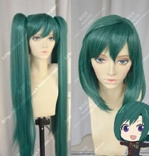 D.Gray-man Hallow Lenalee Lee Peacock Green Short Cosplay Party Wig