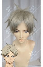 Haikyū!! Eita Semi Ash Blond Short Cosplay Party Wig