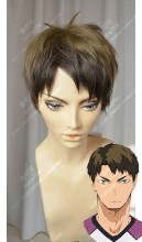 Haikyū!! Wakatoshi Ushijima Raw Umber Gradient Burnt Umber Short Cosplay Party Wig