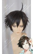 Mystic Messenger JuminHan Black Mix Brown Short Cosplay Party Wig