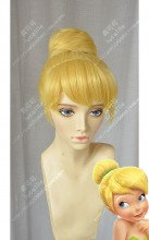 Disney Tinker Bell Golden Bun Style Cosplay Party Wig