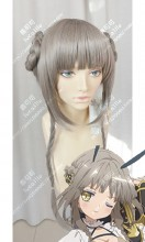 Magical Girl Raising Project La Pucelle Gray Mix Brown Braid Bun Style Cosplay Party Wig