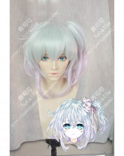 Hand Shakers Koyori Akutagawa Opal Green Gradient  Orchid Gray Ponytail Cosplay Party Wig