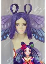 Onmyoji Butterfly Deep Royal Purple 2 Extend-Hair Style Cosplay Party Wig