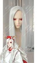 Onmyoji Oni Shi Shiro Moon White 100cm Straight Cosplay Party Wig