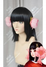 Onmyoji sakura yousei Black Short Cosplay Party Wig