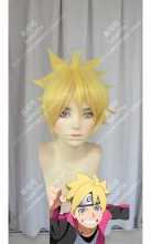 Boruto: Naruto Next Generations Boruto Jaune Brillant Short Cosplay Party Wig