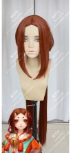 Onmyoji Zashiki-warashi 120cm Centerparting Orange Mix Brown Long Sideburn Style Cosplay Party Wig
