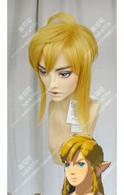The Legend of Zelda: Breath of the Wild Link Topaz  Short Ponytail Style Cosplay Party Wig