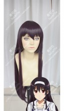 Saekano: How to Raise a Boring Girlfriend Utaha Kasumigaoka 80cm Grape Mix Red Straight Cosplay Party Wig