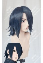 Boruto: Naruto Next Generations Sasuke Uchiha Short Blue Black Cosplay Party Wig