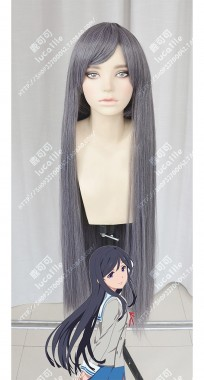 Action Heroine Cheer Fruits Misaki Shirogane 100cm Gray Mix Purple Cosplay Party Wig