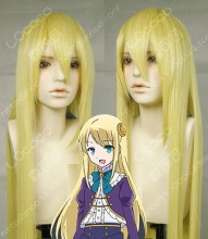 In Another World With My Smartphone Yumina Urnea Belfast Gloden 100cm Straight Party Cosplay Wig