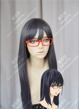 Welcome to the Ballroom Shizuku Hanaoka 80cm Steel Gray Mix Purple Cosplay Party Wig