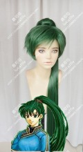 Fire Emblem: The Blazing Blade Lyn Bottle Green Ponytail Style Cosplay Party Wig