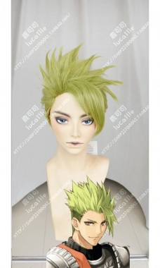 Fate/Apocrypha Rider of Red Achilles Chartreuse Yellow Full Back Style Cosplay Party Wig