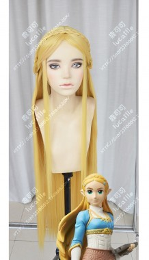 The Legend of Zelda: Breath of the Wild Princess Zelda Golden Cosplay Party Wig