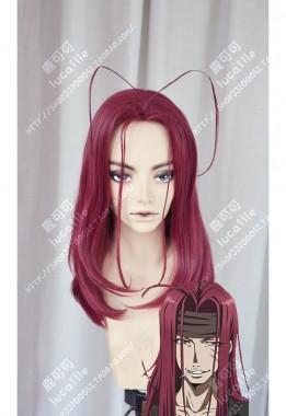 Saiyuki Sha Gojyo Red Mix Claret 60cm Stay Hair Style Cosplay Party Wig