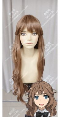 Fate/Apocrypha Archer of Blacks' Master Fiore Forvedge Yggdmillennia Cinnamon Mix Coffee Brown Curly Cosplay Party Wig