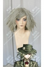 Fate/Grand Order Avenger Monte Cristo Edmond Dantès Slate Green Mix Shadow Blue Curly Short Cosplay Party Wig